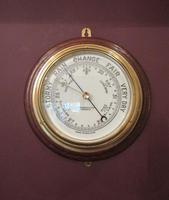 Antique  London Bulkhead Marine Barometer (7 of 7)