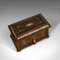 Ornate Antique Tea Caddy, English, Rosewood, Sarcophagus, Chest, Regency c.1820 (6 of 12)