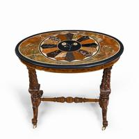Victorian Walnut & Pietra Dura Table (3 of 16)