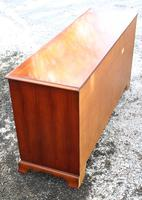 1960's Good Yew Wood 9 Drawer Chest Drawers (3 of 4)