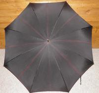 Vintage M.P 9 Carat Rolled Gold Gents Walking Length Umbrella with Black Canopy (6 of 11)