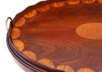 Edwardian Mahogany & Satin Walnut Tray on Stand Coffee Table c.1905 (3 of 7)