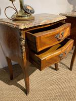 Pair of Marble Topped Bedside Cabinets (2 of 6)