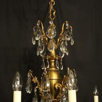 Italian Gilded & Crystal 12 Light Antique Chandelier (8 of 9)