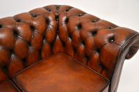 Antique Victorian Style Leather 2 Seat Chesterfield Sofa (10 of 13)