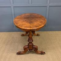 Victorian Burr Walnut Stretcher Table (3 of 13)