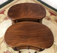 Vintage French Cherrywood Cabinets Kidney Shaped Bedside Tables (3 of 10)