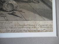Original Second State Hogarth Print, A Rake's Progress Plate 6, 1735 (6 of 9)