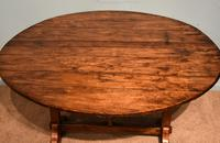 French Provincial Poplar Fruitwood Vondage Dining Table (4 of 4)