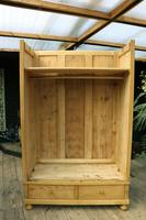 Quality! Large Old Pine Double 'Knock Down' Wardrobe - We Deliver! (15 of 17)