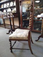 Victorian Carved Barley Twist Chair (6 of 7)