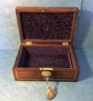 Regency Rosewood Brass Inlaid Jewellery Box (9 of 12)