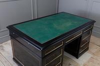 1930s French Ebonised Pedestal Desk (4 of 7)