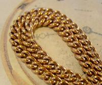 Victorian Pocket Watch Chain 1890 Antique 12ct Rose Rolled Gold Albert & T Bar (5 of 11)