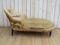 Antique French Chaise Longue Day Bed for re-upholstery (2 of 8)