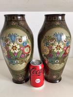 Pair of Large Antique Royal Bonn Vases - Art Nouveau (7 of 9)