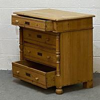 Waxed Old Pine Chest of Drawers c.1920 (3 of 4)