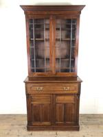 Antique 19th Century Two Stage Mahogany Bookcase (2 of 19)