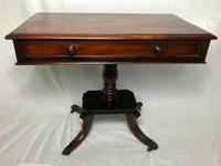 Antique Regency 19th Century Circa 1820 Irish Campaign Side Table With Drawer (9 of 12)