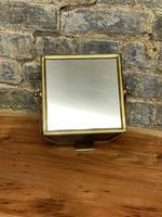 Vintage Brass Table Top Mirror