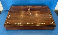 William IV Rosewood Lap Desk with Mother of Pearl Inlay (3 of 12)