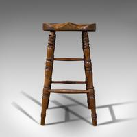 Antique Artist's Stool, English, Beech, Ash, Saddle Seat, Victorian c.1900 (2 of 12)