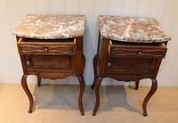 Pair Of French Walnut Bedside Cabinets (3 of 10)