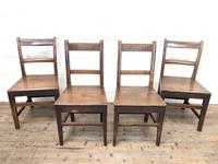 Four 19th Century Oak Back Bar Chairs (3 of 10)