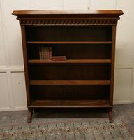 Arts & Crafts Large Golden Oak Open Bookcase (2 of 7)