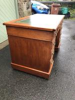 Antique Walnut Pedestal Writing Desk (pri) (5 of 10)