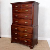 Georgian Chest on Chest of Drawers Inlaid Mahogany (2 of 12)