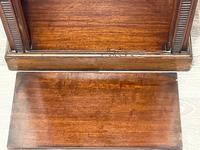 English Small Regency Style Dwarf Recessed Mahogany Open Bookcase (44 of 44)