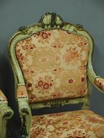 Pair of Italian Carved and Painted Armchairs (9 of 16)