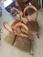 4 Victorian Walnut Chairs (5 of 5)