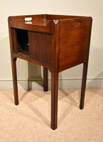 George III Tambour Fronted Bedside Table / Commode (3 of 7)