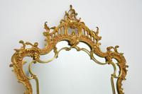 Large Antique Chippendale Style Gilt Brass Mirror (5 of 12)