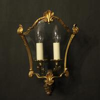 French Pair Of Gilded Bronze Half Lanterns (5 of 10)