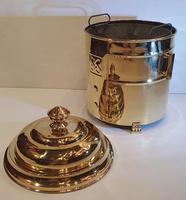 Art Deco Polished Brass Coal Bucket (4 of 5)