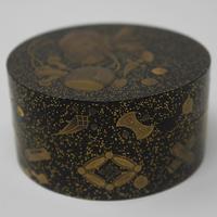 Antique Japanese Meiji Gilt & Black Lacquer Lidded Box (7 of 15)