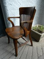 10 1920's Solid Oak Chairs (3 of 7)
