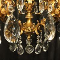 Italian Pair Bronze 20 Light Antique Chandeliers (9 of 10)