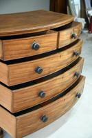 Antique Mahogany Bow Front Chest of Drawers (7 of 9)