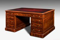 Victorian Mahogany Antique Pedestal Desk (3 of 4)