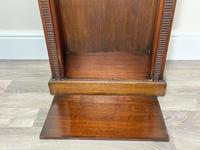 English Small Regency Style Dwarf Recessed Mahogany Open Bookcase (40 of 44)