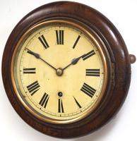 Rare HAC 7 Inch Dial Wall Clock Oak surround painted dial station clock (4 of 5)