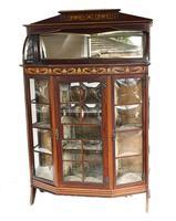 Art Nouveau Display Cabinet English 1900 Golding & Son