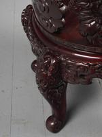 Antique Chinese Carved Hardwood Armchair (15 of 16)