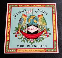 1920's Packaging Adverting Label From Rangoon Oosman & Abdul Sattar