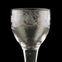 18th Century Folded Foot George II Wine Glass (2 of 7)