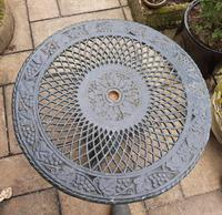 Wonderful Set of Cast Iron Garden Table & Four Chairs (6 of 7)